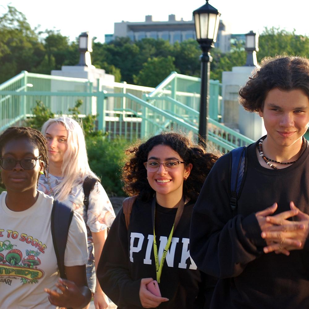 Students enjoying the sunshine